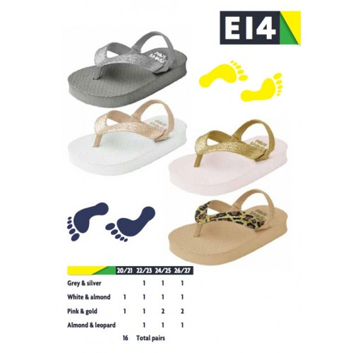 ebd789a55774b E14-Tongs Bébé Fille à Paillettes x16